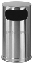"Rubbermaid / United Receptacle SO16SSS Waste Receptacle - 12 Gallon - 15"" Dia. x 28\"" H - Satin Stainless Steel"