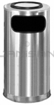 "Rubbermaid / United Receptacle SO16SUSSS Ash/Trash Waste Receptacle - 12 Gallon - 15"" Dia. x 28"" H - Satin Stainless Steel"