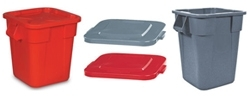 Square BRUTE® Containers, Trash Cans & Lids