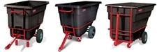 Rubbermaid Heavy-Duty Towable Tilt Trucks