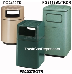 "FG2037SQTR Two Piece Model with Two Disposal Openings - 42 Gallon Capacity - 20"" Sq. x 36\"" H - 2 Disposal Openings Measuring 15\"" W x 7\"" H"