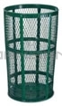 "Rubbermaid / United Receptacle SBR52E Powder Coated Steel Mesh Street Basket - 48 Gallon Capacity - 24"" Top Dia. x 33"" H"
