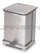 "Rubbermaid / United Receptacle ST7SS Square Step Can - 7 Gallon Capacity - 12"" Sq. x 17"" H - Stainless Steel"