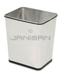 "Rubbermaid / United Receptacle WB29RSS Concept Collection Rectangular Stainless Wastebasket - 13.5"" W x 15.5"" H x 11"" Dp. - Stainless Steel - 3 per carton"