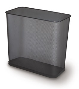 "Rubbermaid / United Receptacle WMB30R Concept Collection Rectangular Mesh Wastebasket - 16"" W x 14\"" H x 8.5\"" Dp - Black - 3 per carton"